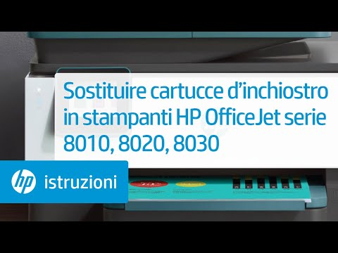 Sostituire cartucce d'inchiostro in stampanti HP OfficeJet serie 8010 o OfficeJet Pro 8020 o 8030