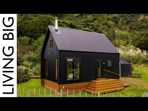 , title : 'Stunning Black Off-Grid Cabin By The River