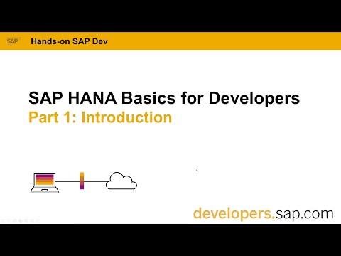 SAP HANA Basics For Developers: Part 1 Introduction