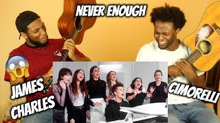 James Charles - Never Enough Cover ft. Cimorelli (REACTION!!)