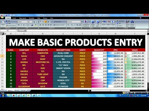 Lesson - 02 | Data Entry Job Training For Beginners | How To Make ...
