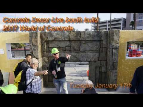 2017 Concrete Decor Live booth build at World of Concrete