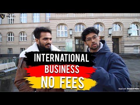 NO TUITION FEES/ MSc International Business in Public University Germany (TH Köln)