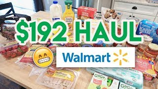 🚨 HERE COME THE FOOD POLICE 👮‍♂️ $192 WALMART GROCERY HAUL + MEAL PLAN 🛒 MOM IS OUT OF TOWN!