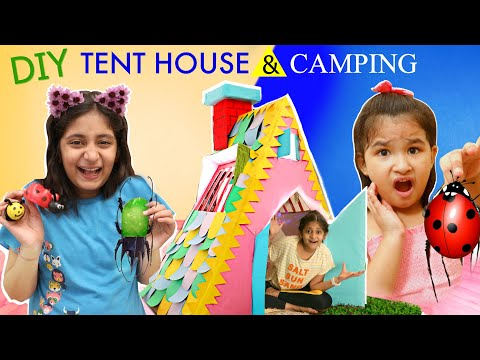 DIY FUN CARDBOARD PlayHouse Tent | INDOOR vs OUTDOOR Camping | MyMissAnand