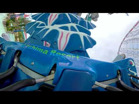 (360度ライド動画・BGMなし)うつ伏せで超低空飛行も!? 世界最大級マシン登場