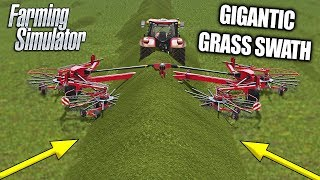 GIGANTIC GRASS SWATH - THIS IS WHY I  LOVE FARMING SIM MULTIPLAYER!!