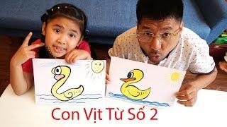 Hướng Dẫn Bé Bắp Bẽ Con Vịt Thừ Số 2 Đơn Giản | Drawing A Duck From Number Two