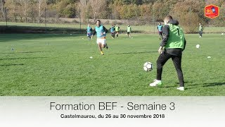 Formation BEF : Semaine 3