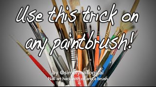 How to make brush strokes smoother for nail art - and brush care too! thumbnail