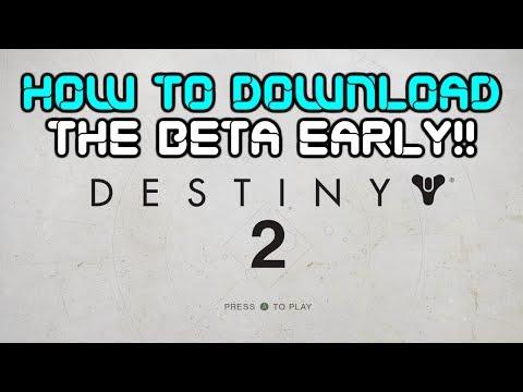 How to Predownload the Destiny 2 Beta!! (All Consoles)