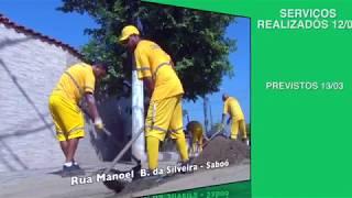 'Cuidando de Santos' começa a semana com serviços de limpeza de galerias e capinação