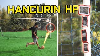 HANCURIN HP TEMEN PAKE BOLA. IPHONE XS JUGA? #FOOTBALLEXPERIMENT Video thumbnail