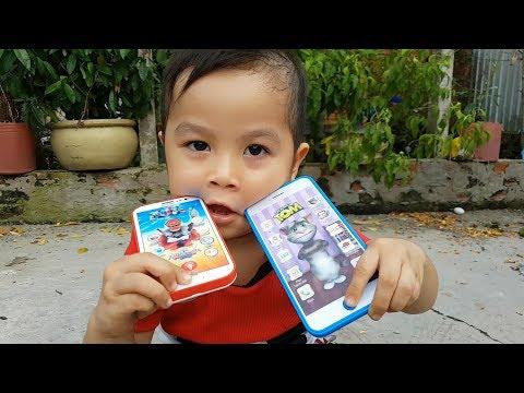 Trò Chơi Bé Ken Điện Thoại Mèo Tom  ❤ChiChi ToysReview TV❤ Đồ Chơi Trẻ Em Baby Doli Bài Hát Vần Thơ