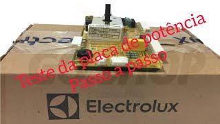 Teste placa lavadora Electrolux completo,lavadora Electrolux não liga nada? com testador de placas