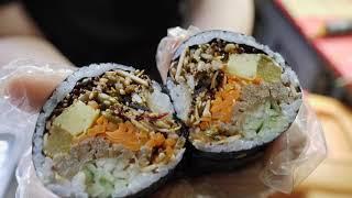 청와대 납품 김밥 / rice rolls popular in korea – gimbap / korean street food