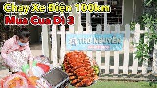 Lâm Vlog - Thử Thách Dùng Xe Điện Chạy 100km Tìm Nhà Thơ Nguyễn và Mua Cua Dì 3 Trên Sài Gòn