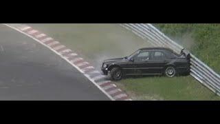 Mercedes Benz 190 Evolution CRASH ACCIDENT UNFALL Touristenfahrten 28 06 2015 Nordschleife