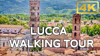 LUCCA Italy Tuscany Walking Tour ► 4k Travel Guide