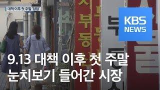 """'9·13 대책' 첫 주말, 썰렁한 부동산…""""일단 지켜보자"""" / KBS뉴스(News)"""