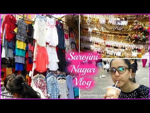 Sarojini nagar Shopping Vlog   Summer shopping  Perkymegs