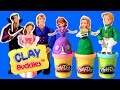 Download Video Sofia the First Clay Buddies Royal Family Activity Book Set Using Play-Doh
