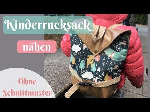 So nähst Du einen Rucksack für Kinder/Kindergartenrucksack selber nähen - Nähanleitung für Anfänger