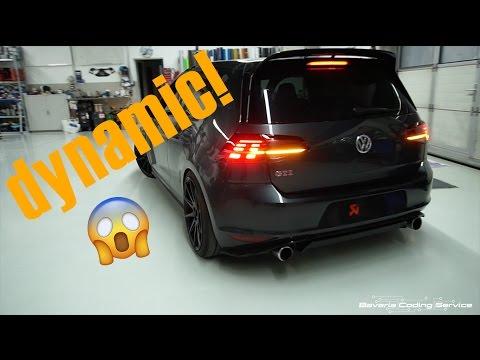 Golf 7 dynamischer Blinker Einbau Facelift 7.5 2017 GTI GTD R Rückleuchten / mit Dyna Blink Spiegel