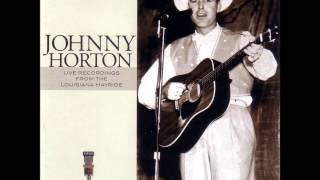Johnny Horton  ~  Honkytonk hardwood floor{singing live}