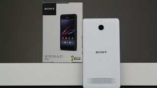 Sony Xperia E1 Dual - Unboxing deutsch