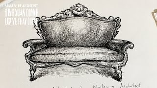 How To Interior Sketch Neoclassical Sofas (vẽ Ghế Sofa Tân Cổ điển) Rapid Sketching
