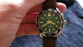 Seiko SKA791P1 kinetic chronograph Unboxing and Hands-On