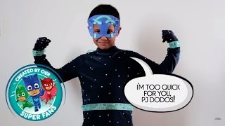 DIY Halloween Costume for PJ Masks villain NIGHT NINJA!!