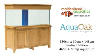 Aqua Oak 150cm x 60cm Systemised Aquarium *Limited Edition* (AQ150S)