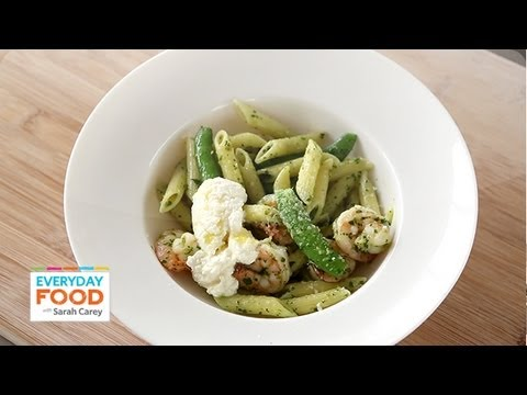 Shrimp and Penne with Spring Herb Pesto | Everyday Food with Sarah Carey