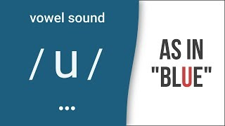 "Vowel Sound / u / as in ""blue""- American English Pronunciation"