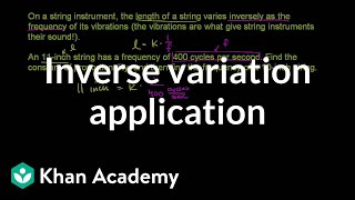Inverse Variation Application