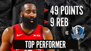 JAMES HARDEN 49 point highlights vs Mavericks | JULY 31, 2020
