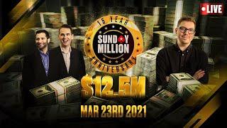 LIVE: FINAL TABLE - Sunday Million - 15th Anniversary! - $12.5 MILLION ♠️ Joe & Nick ♠️ PokerStars