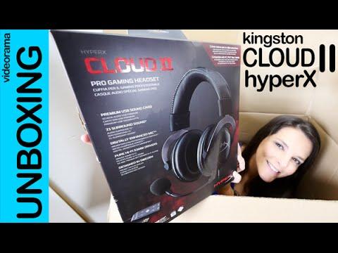Kingston Cloud II HyperX unboxing en español