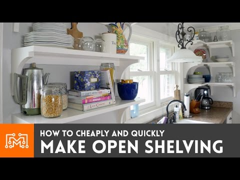 Build These Simple, Cheap Open Shelves For Your Kitchen Or Dining Room