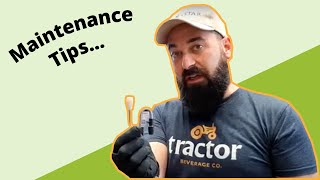 Tractor Beverage Cleaning and Maintenance