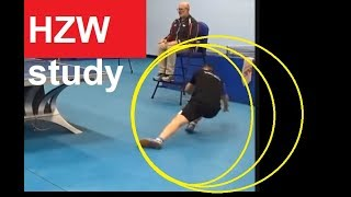 [TT Study] He Zhiwen Eats Point, Double Bounce One Hand On Table Rule At New York USA