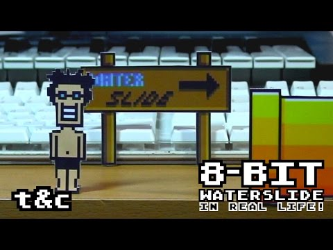 8 Bit Water Slide in Real Life