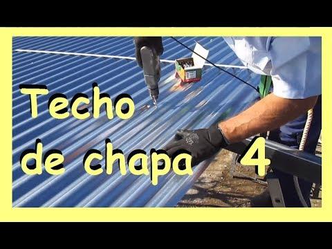 Cómo montar un techo de chapa 4  las planchas onduladas galvanizadas