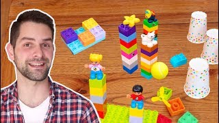 Five Easy LEGO DUPLO Building Ideas for your Kids to do at Home! Easy DIY Activity Instructions