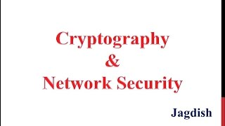 Cryptography Tutorial 01 - Overview