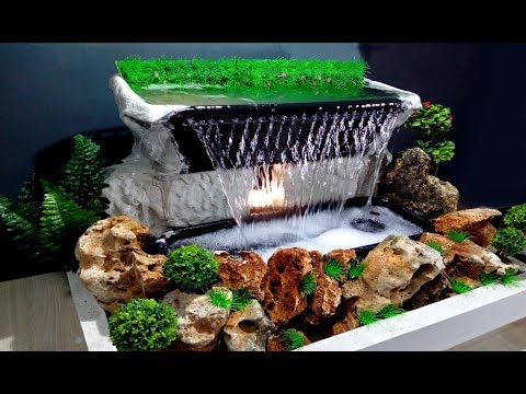 How to make Beautiful Waterfall at home Very Easy / DIY