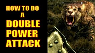 Skyrim Remastered Gameplay - How to Do DOUBLE Power Attacks! (Special Edition)