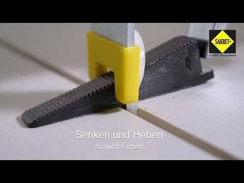 Großformate ohne Überzähne verlegen – SAKRET Fliesen Nivelliersystem